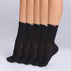 Lot de 5 chaussettes noires EcoDIM Femme-DIM