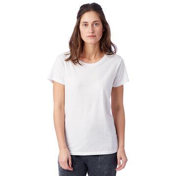 T-shirt Vintage blanc à manches courtes 100% coton Femme-DIM