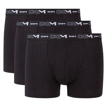 Lot de 3 boxers noir Homme en coton stretch, , DIM