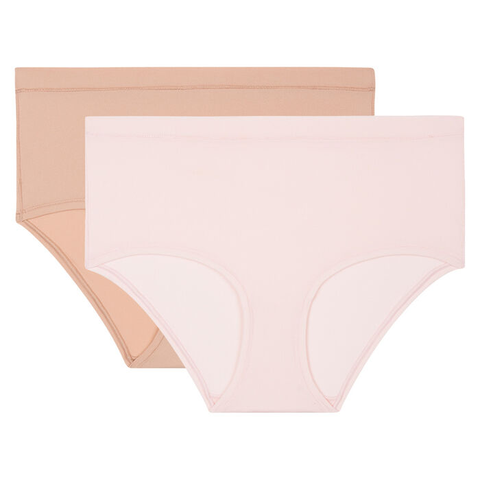 Lot de 2 shortys invisibles Body Mouv New Skin et Rose, , DIM
