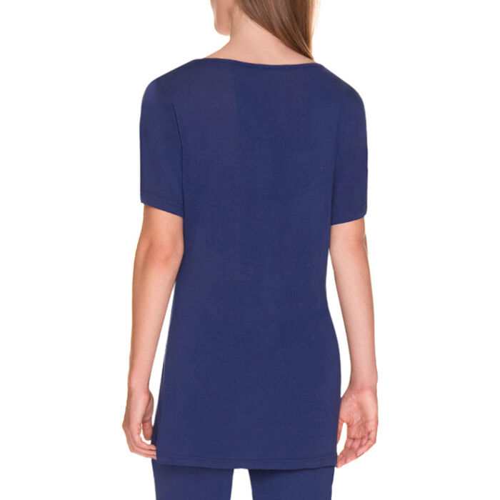 T-shirt de pyjama manches courtes bleu encre Femme-DIM