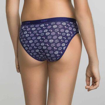 Lot de 3 culottes fille violettes coton - Box Japon, , DIM