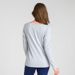 Tee-shirt manches longues gris chiné Soft & Cool-DIM