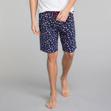 Short pyjama bleu marine à imprimé - Fashion, , DIM