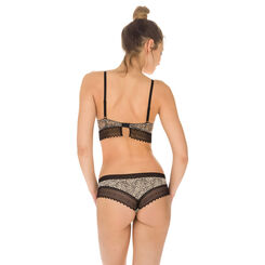 Lot de 2 shortys imprimé animal et noir Sexy Fashion coton-DIM