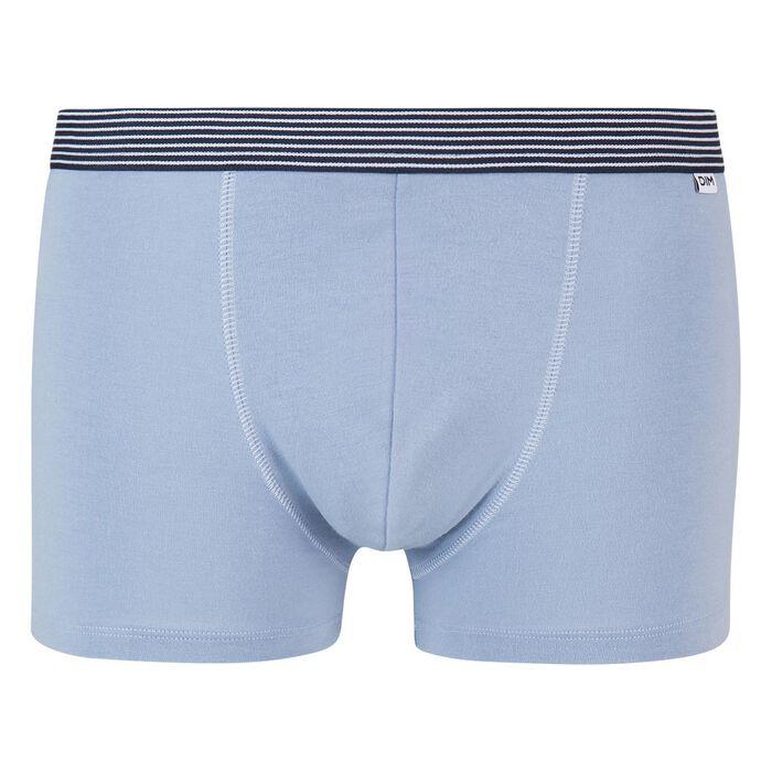 Boxer bleu glacier coton stretch ceinture imprimé géo Mix and Print, , DIM