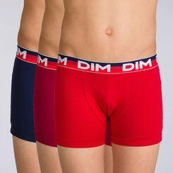 Lot de 3 boxers rubis Trio DIM BOY-DIM