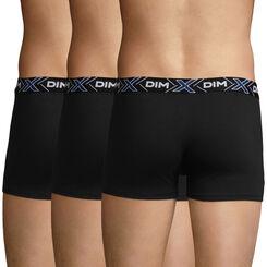 Lot de 3 boxers noirs X-Temp en coton stretch pour homme, , DIM