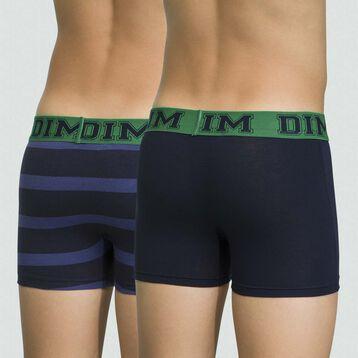 Lot de 2 boxers pour garçon Marine en coton stretch Rythmics , , DIM