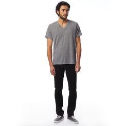 T-shirt col en V Eco-Jersey™ gris à manches courtes Homme-DIM