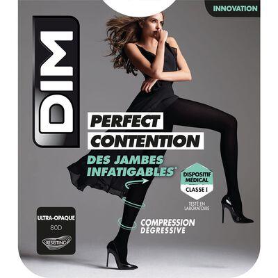 Collant Ultra-Opaque Noir pour femme Perfect Contention 80D, , DIM