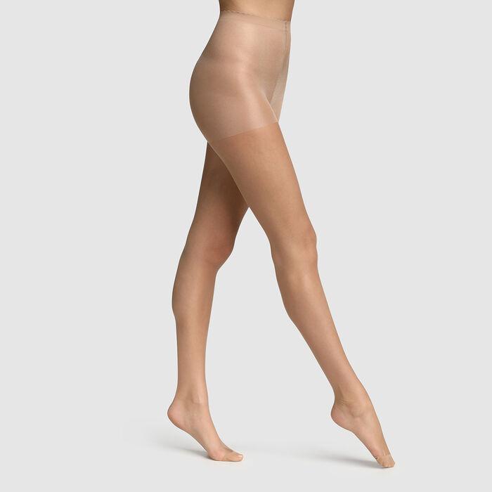 Collant voile transparent beige éclat effet nude Body Touch Dim 17D, , DIM