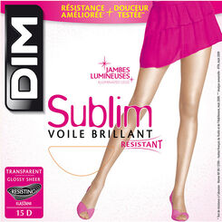 Collant transparent naturel Sublim Voile Brillant 15D-DIM