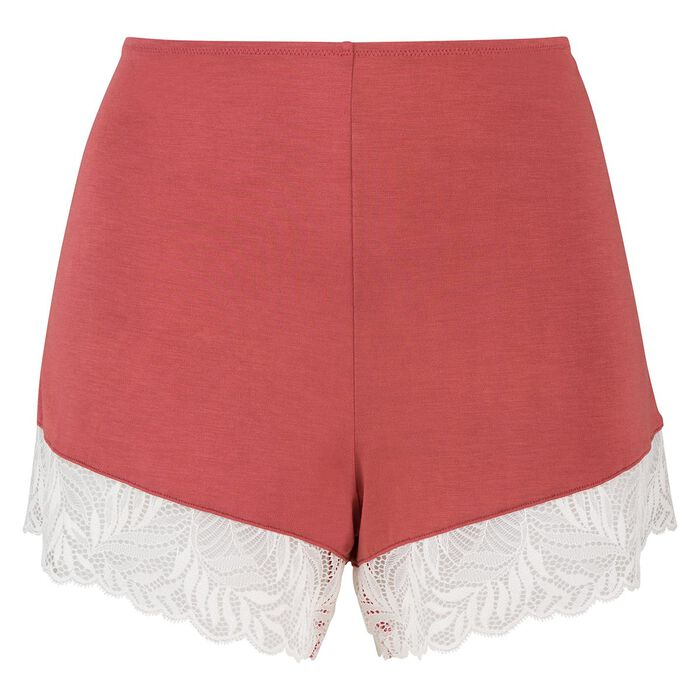 Short pyjama en coton modal et dentelle marsala Cosy Lady de Dim, , DIM