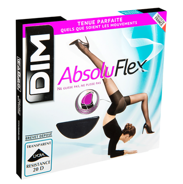 Collant noir AbsoluFlex transparent 20D, , DIM