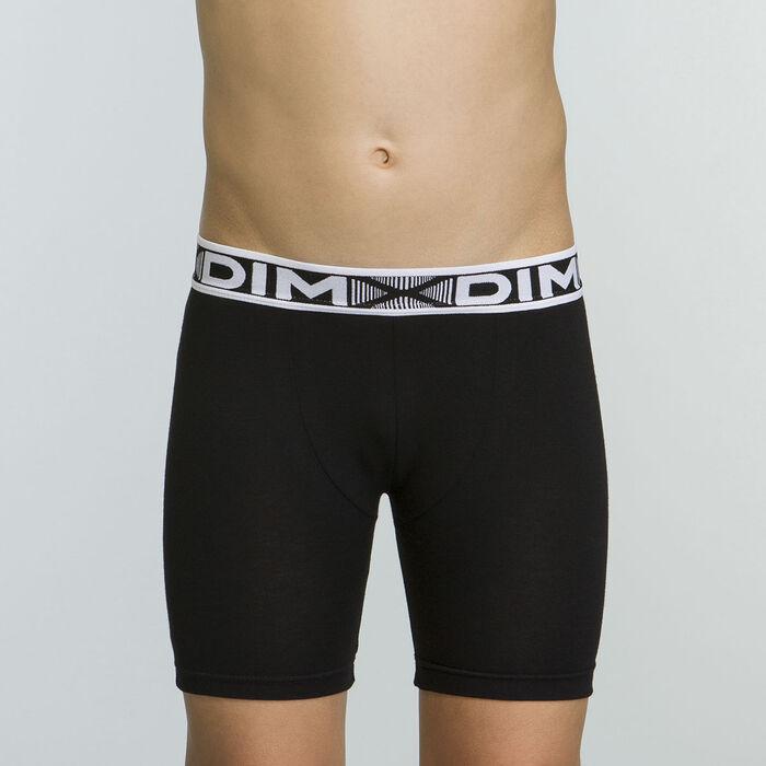 Caleçon court noir pour garçon en coton stretch Basic Sport , , DIM