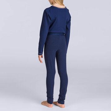 Pyjama long couleur matelot plumetis DIM GIRL, , DIM