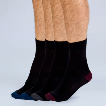 Lot de 4 paires de mi-chaussettes coton Mix & Match-DIM