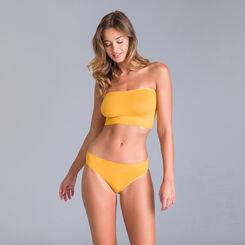 Soutien-gorge bandeau collection 60 ans jaune d'or-DIM