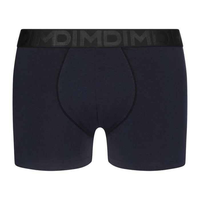 Boxer homme coton modal ceinture noire Bleu Minuit Dim Classic, , DIM