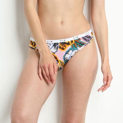 Slip femme en coton stretch à imprimé Palm Beach Dim Originals, , DIM