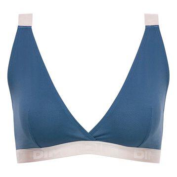 Brassière femme triangle bleu antique - Les Pockets édition limitée, , DIM