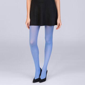Collant opaque velouté bleu majorel 50D Femme, , DIM
