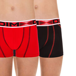 Lot de 2 boxers rouge et noir Stadium DIM Boy-DIM