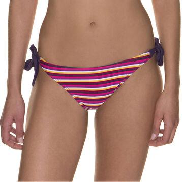 Bas de maillot de bain berlingot violet et jaune-DIM