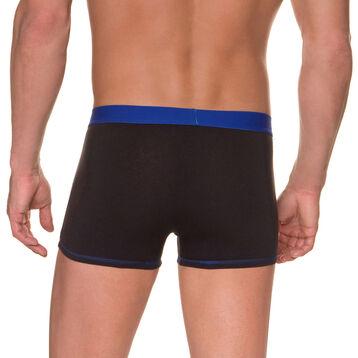 Boxer noir ceinture bleu marin Mix & Colors, , DIM