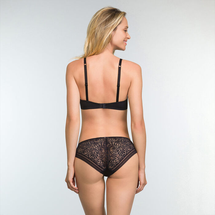 Soutien-gorge Corbeille Noir en dentelle et microfibre Sublim Fashion, , DIM