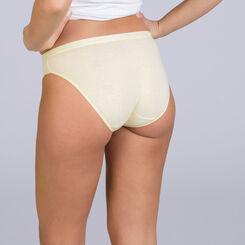 Lot de 3 slips blanc, jaune et vert Les Pockets EcoDIM-DIM