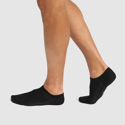 Lot de 2 paires de chaussettes hommes basses en viscose Noir Bambou, , DIM