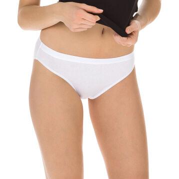 Lot de 3 slips blanc/peau/noir Les Pockets Coton-DIM