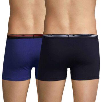 Lot de 3 boxers coloris automne bleu Daily Colors-DIM