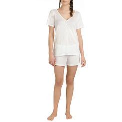 T-shirt de pyjama manches courtes nacre en lyocell Femme-DIM