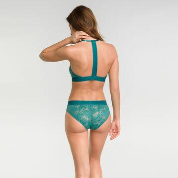 Boxer femme dentelle vert royal - MOD de Dim, , DIM