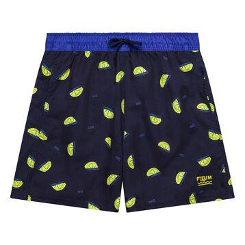Short de bain garçon imprimés citrons - Bain Citrons, , DIM