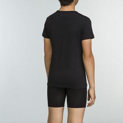 Tee-shirt Noir pour garçon 100% coton Basic Sport, , DIM