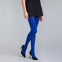 Collant opaque velouté bleu neptune  50D Style-DIM