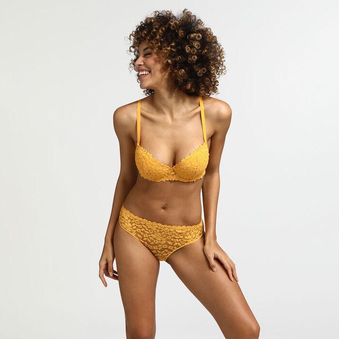 Soutien-gorge corbeille ampliforme jaune or Blooming Lace Dim, , DIM
