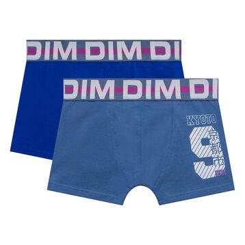 Lot de 2 boxers garçon indigo - Box Japon, , DIM