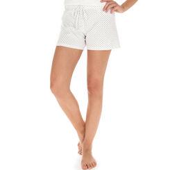 Short de pyjama nacre plumetis 100% coton Femme-DIM