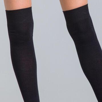 Chaussettes hautes noires Coton Style Femme-DIM