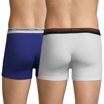 Lot de 2 boxers blanc et bleu indigo Daily Colors-DIM