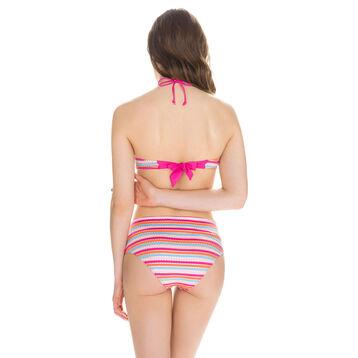 Haut de maillot de bain bandeau rayures multicolores Femme-DIM