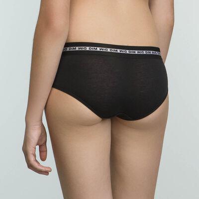 Shorty Noir pour fille en coton stretch Dim Sport, , DIM