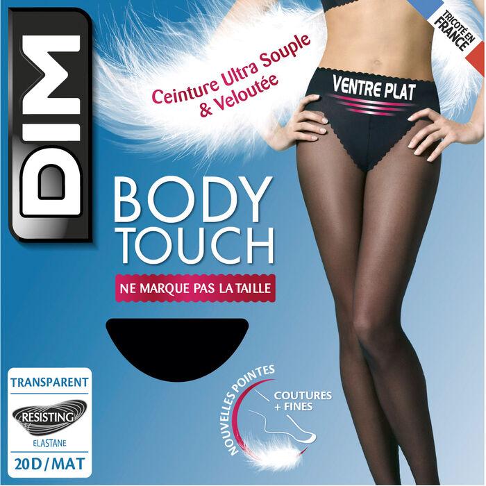 Collant noir Body Touch Ventre Plat 20D, , DIM