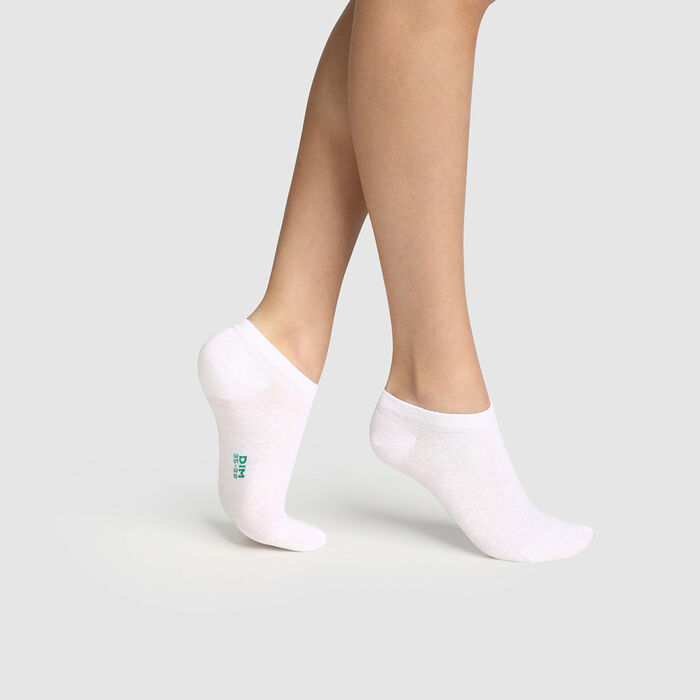 Lot de 2 paires de socquettes femme en coton bio Blanc Green by Dim, , DIM