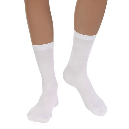 bas prix 6b421 1be64 Lot de 2 paires de chaussettes blanches Light Coton Femme